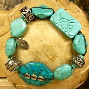 Silpada Turquoise Stretch Bracelet NWOT